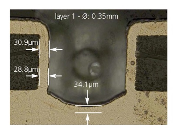 unimicron thick copper profile technology microsection