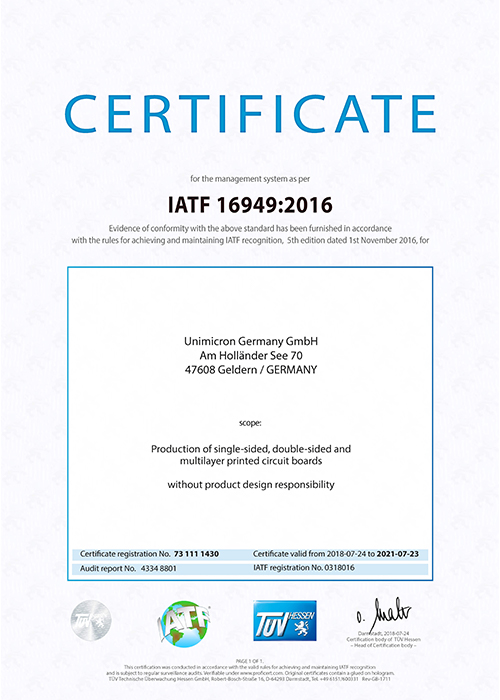 Quality management system according to IATF 16949
