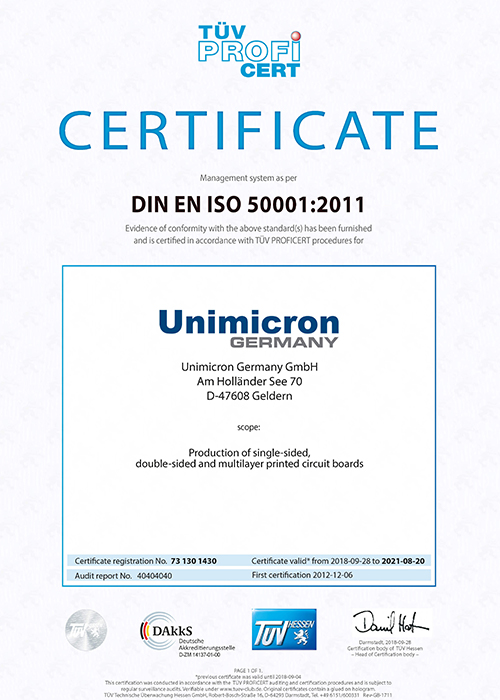 Energy management system according to DIN EN ISO 50001
